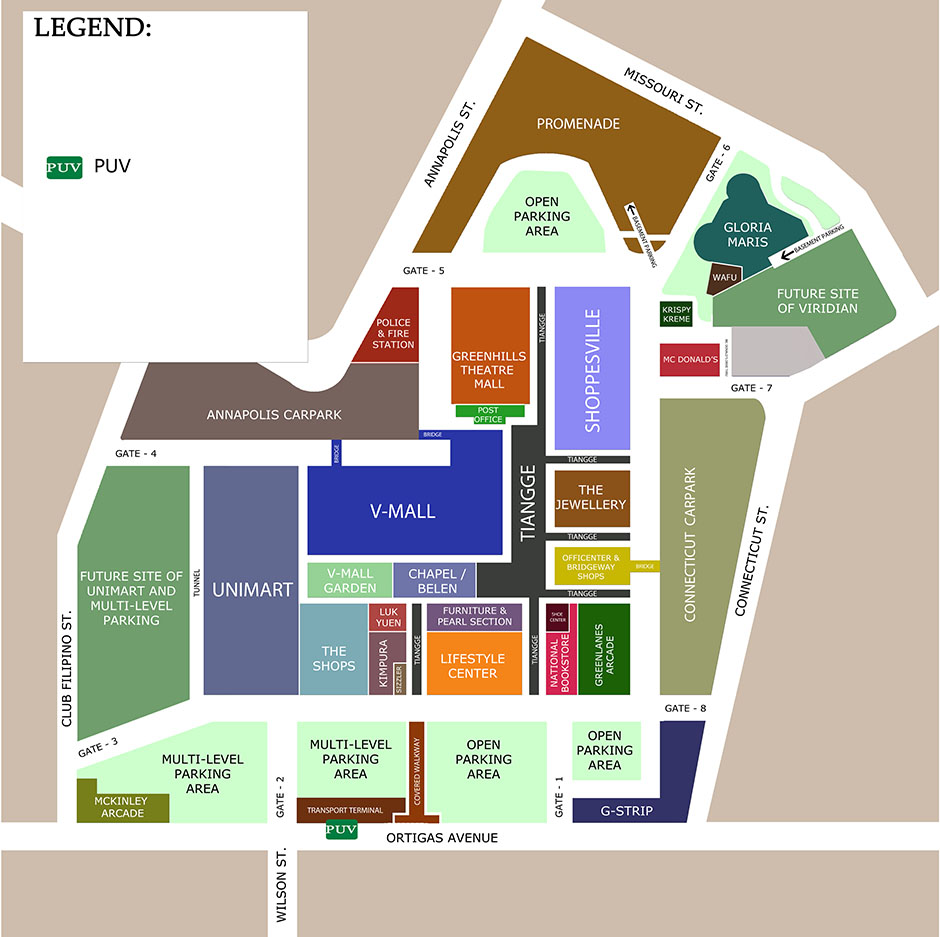 Gadgets 2018: Green Hills Mall Map